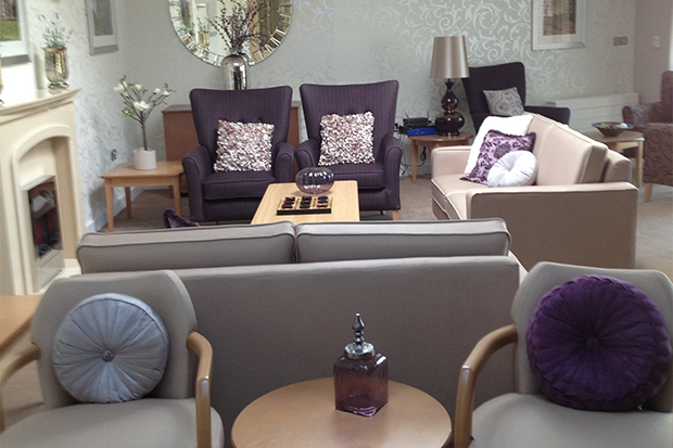 Inside at one of our extra care homes